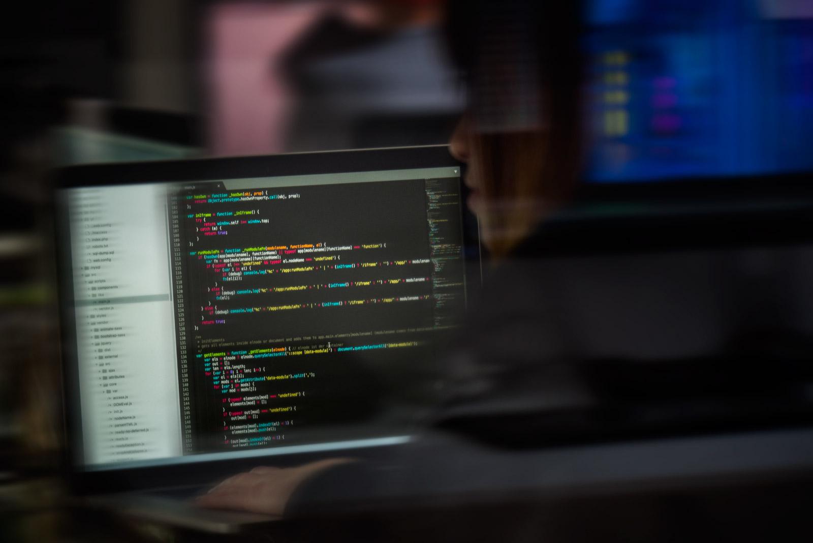 Monitor mit Quellcode