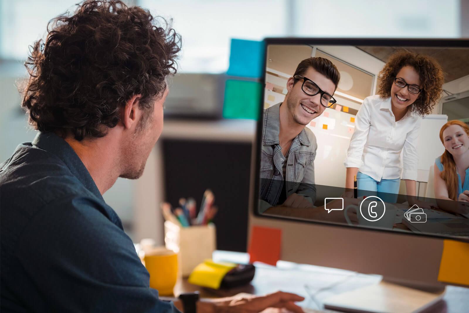 Telefonkonferenz mit Videofunktion
