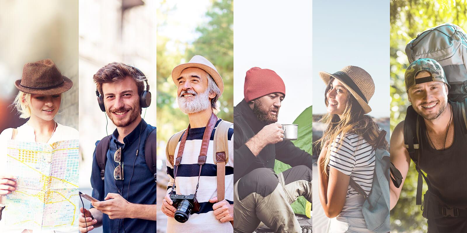 Collage verschiedener Menschen