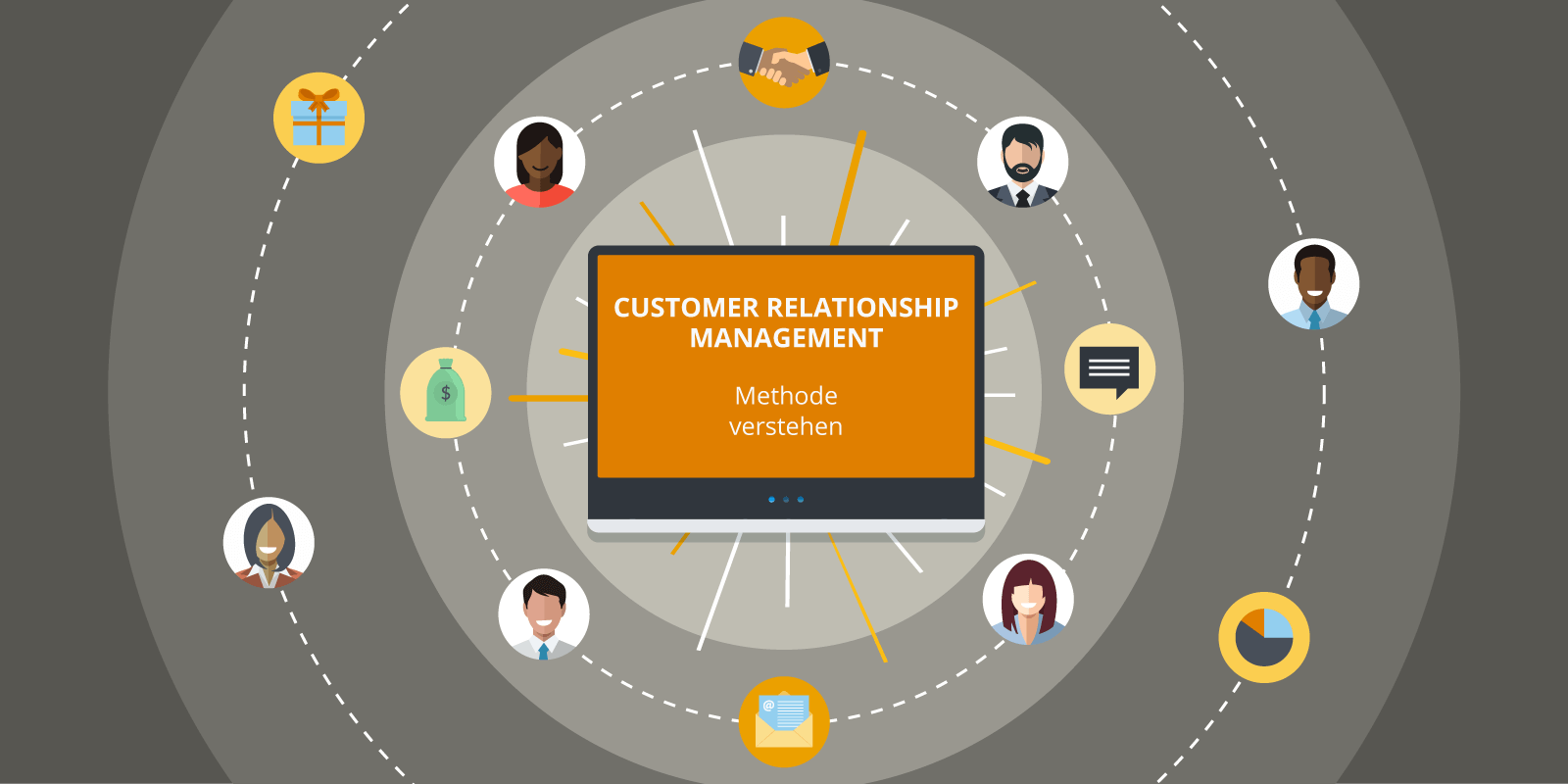 Illustration zur Methode des Customer Relationship Management