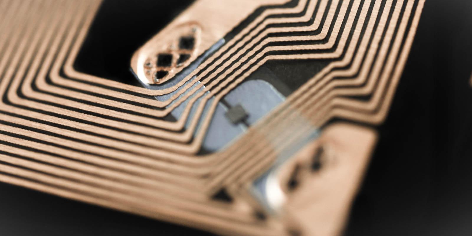 RFID Chip in Nahaufnahme