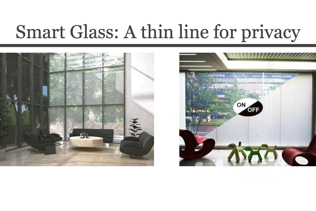 Smart glass for meeting privacy