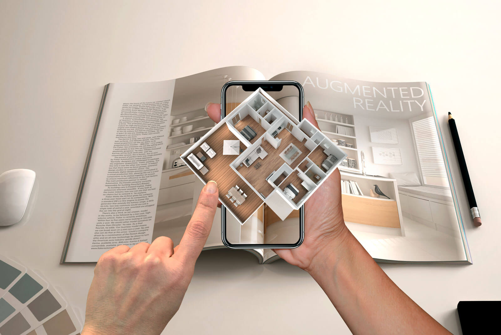 Additional information through Augmented Reality in a magazine