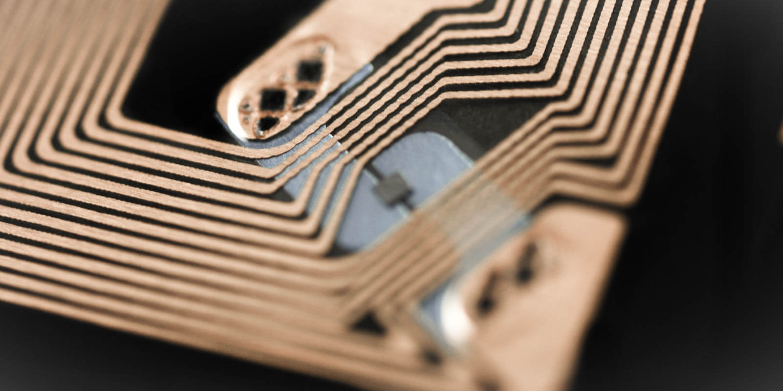 A RFID Chip in close up