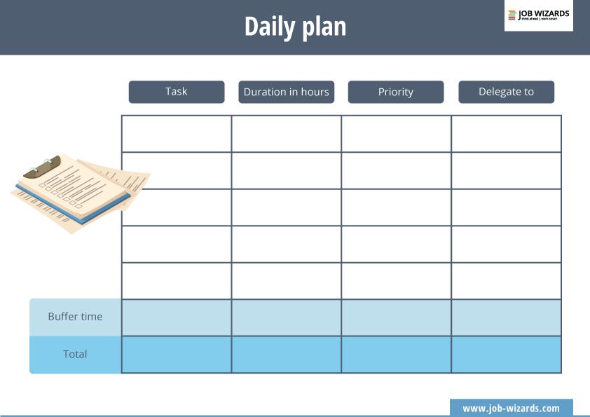 Descarga tu plantilla de plan diario (Inglés)