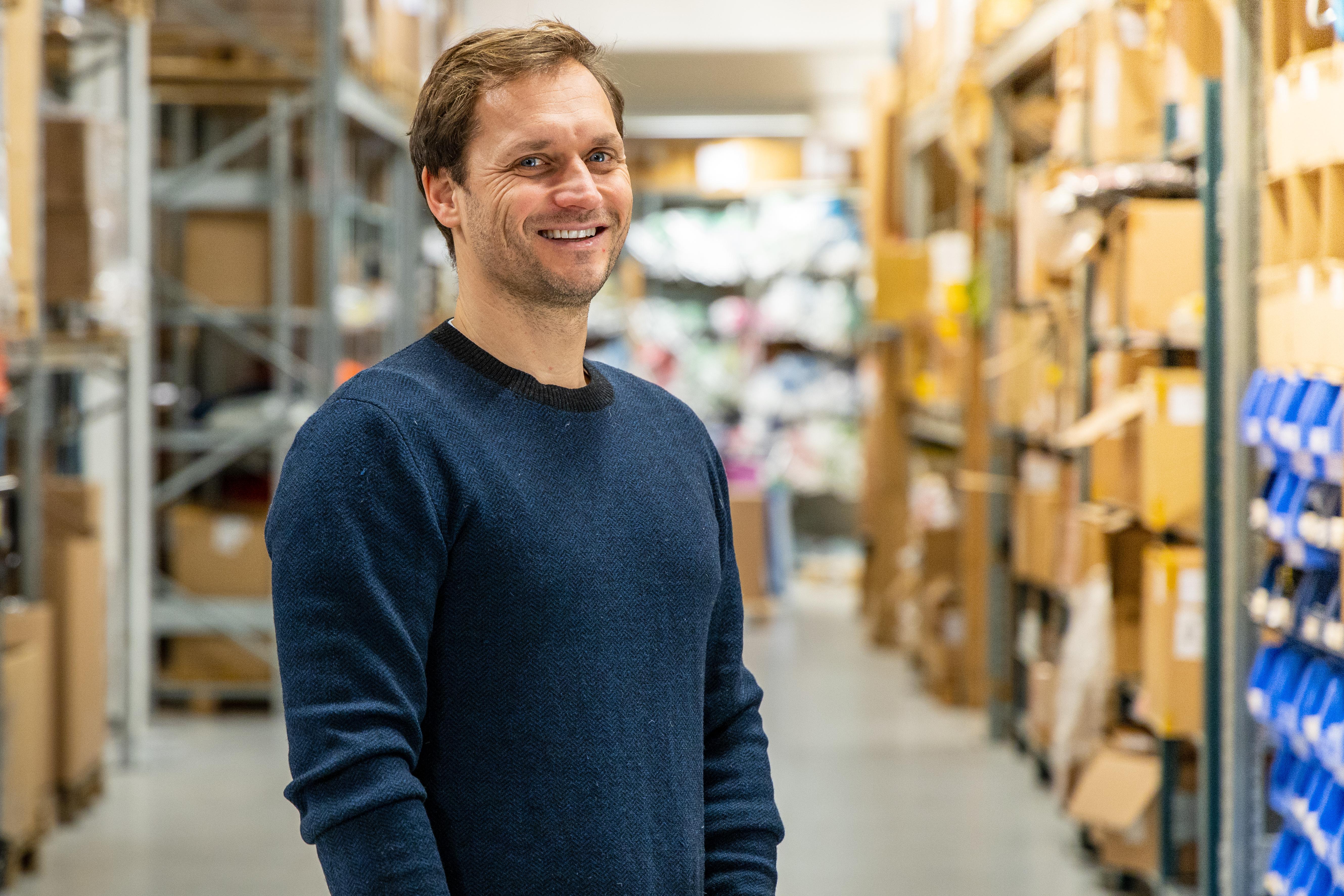 Marius Olsen, daglig leder i Varri